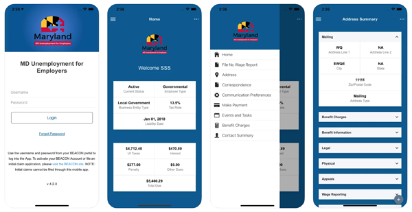 BEACON employer mobile app